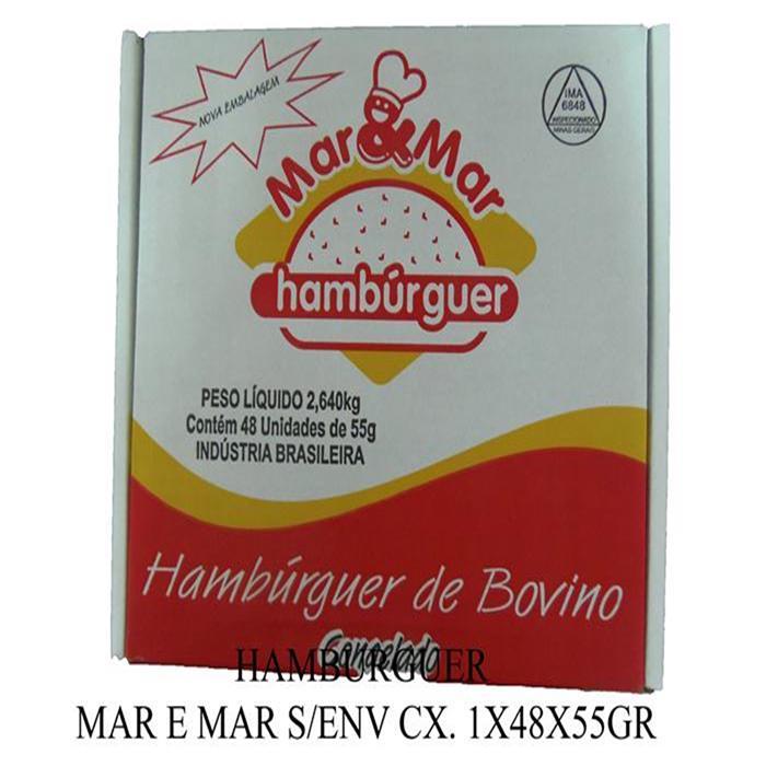HAMBURGUER MAR E MAR S/ENV CX. 1X48X55GR