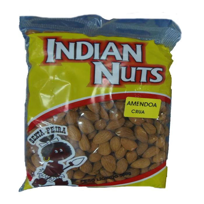 SEMENTE AMENDOA S/C CRUA INDIAN 20/500GR