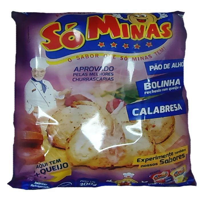 PAO DE ALHO SO MINAS CALABRESA CX12/300G