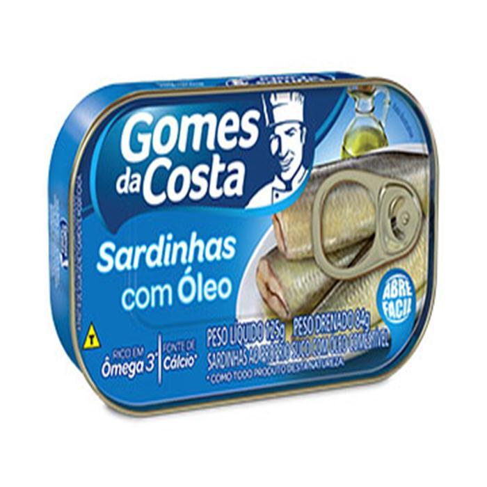 PEIXE SARDINHA GOMES DA COSTA CX 50/125G