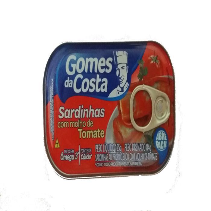 PEIXE SARDINHA G.COSTA MOLHO TOM 50/125G