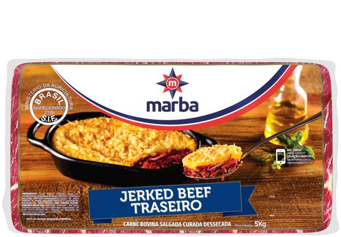 JERKED BEEF TRASEIRO MARBA CX 6/5 KG
