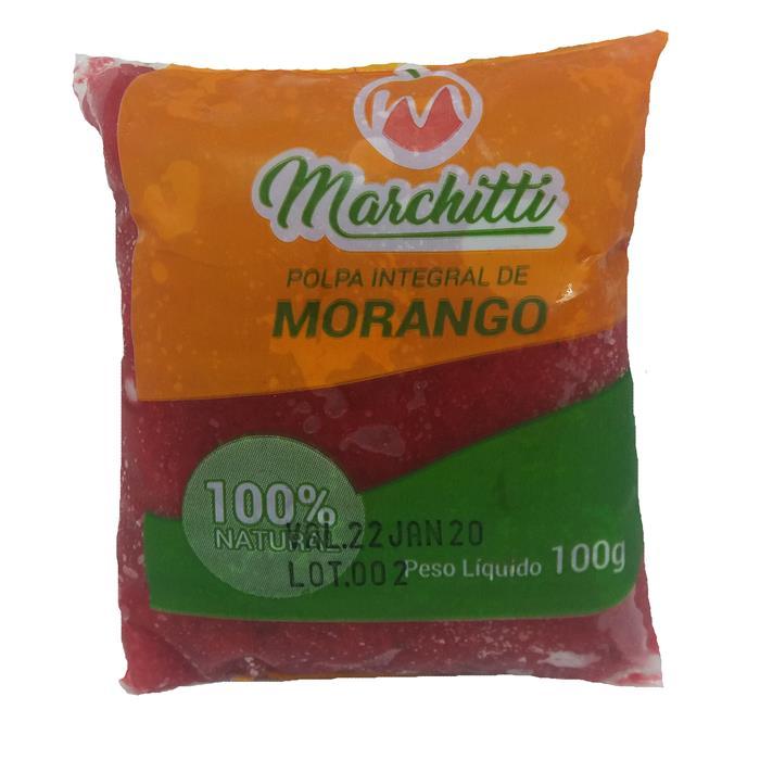 POLPA DE FRUTA MORANGO MARCHITT 10/100GR