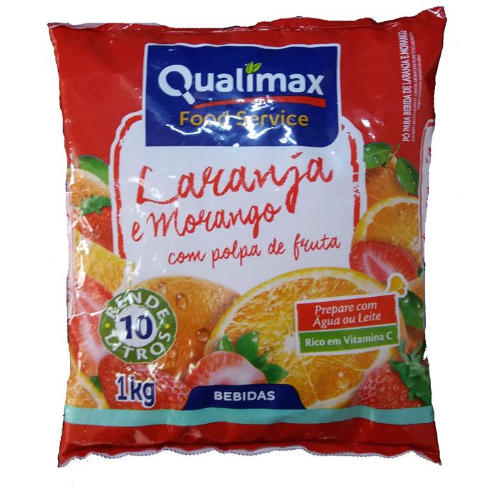REFRESCO PO LAR/MORANGO QUALIMAX CX10/1K