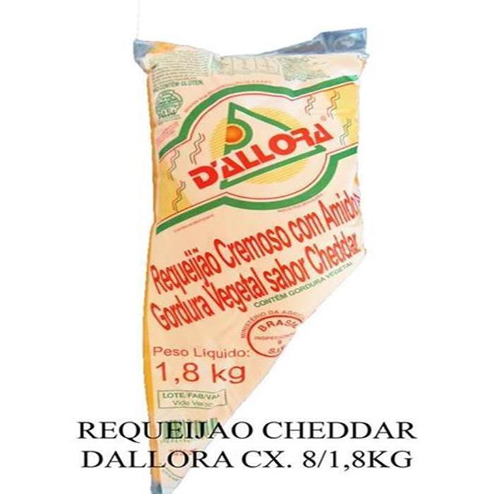 REQUEIJAO CHEDDAR DALLORA CX. 8/1,8KG