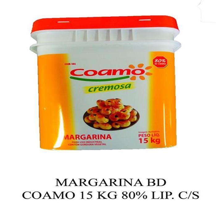 MARGARINA BD COAMO 15 KG 80% LIP. C/S