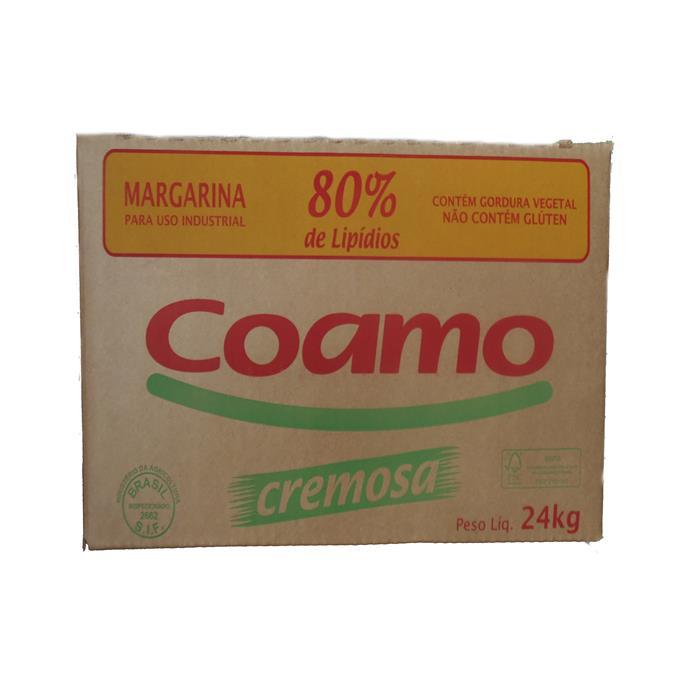 MARGARINA CX COAMO 24 KG 80% LIP. C/S