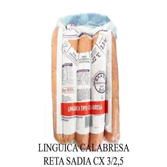 LINGUICA CALABRESA RETA SADIA CX 3/2,5KG