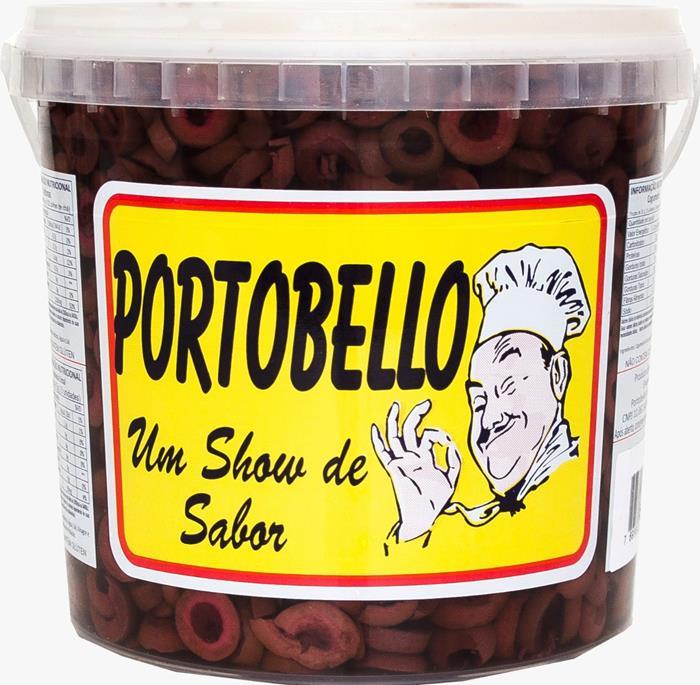 AZEITONA PRETA FAT PORTOBELLO BD 2KG/6UN