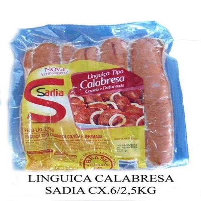 LINGUICA CALABRESA SADIA CX. 6/2,5 KG