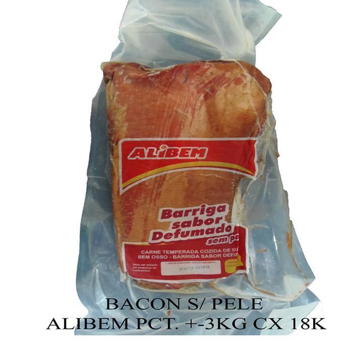 BACON S/ PELE ALIBEM PCT. CX+-4PC/18KG