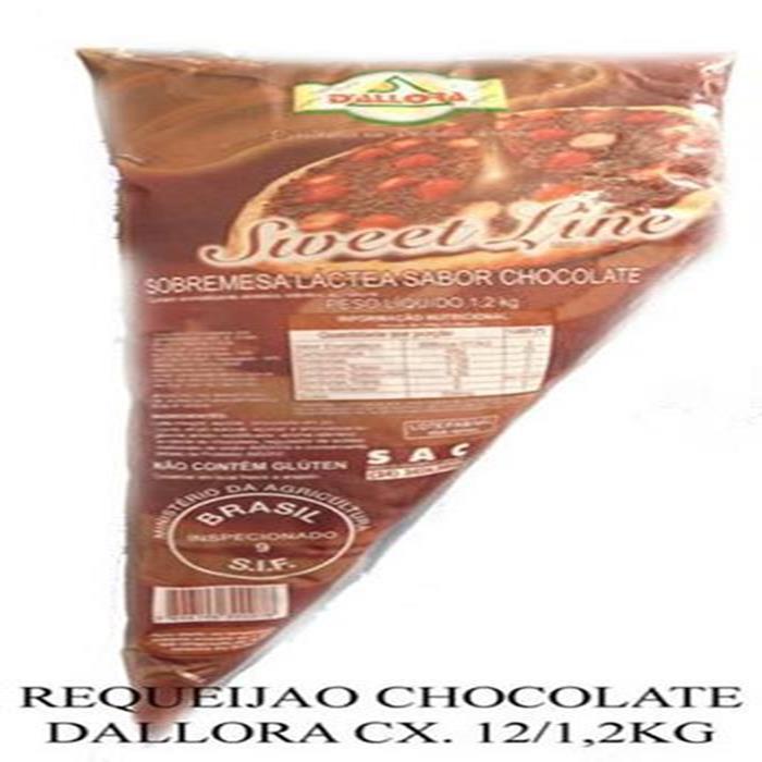 REQUEIJAO CHOCOLATE DALLORA CX. 12/1,2KG