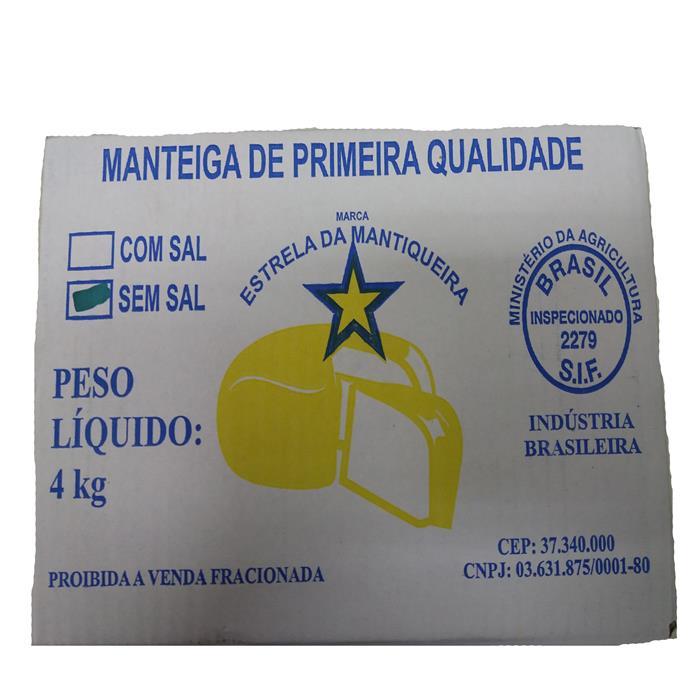 MANTEIGA S/ SAL EST. MANTIQUEIRA CX. 4KG