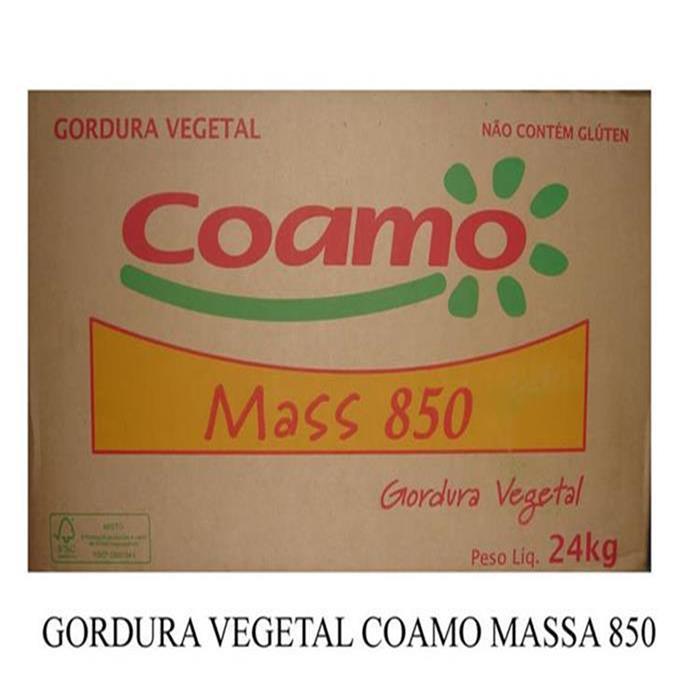 GORDURA VEGETAL COAMO MASSA 850 BLC 24KG