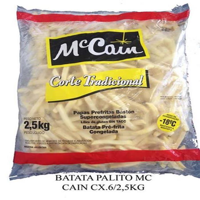 VEG BATATA PALITO MCCAIN CX.6/2,5KG