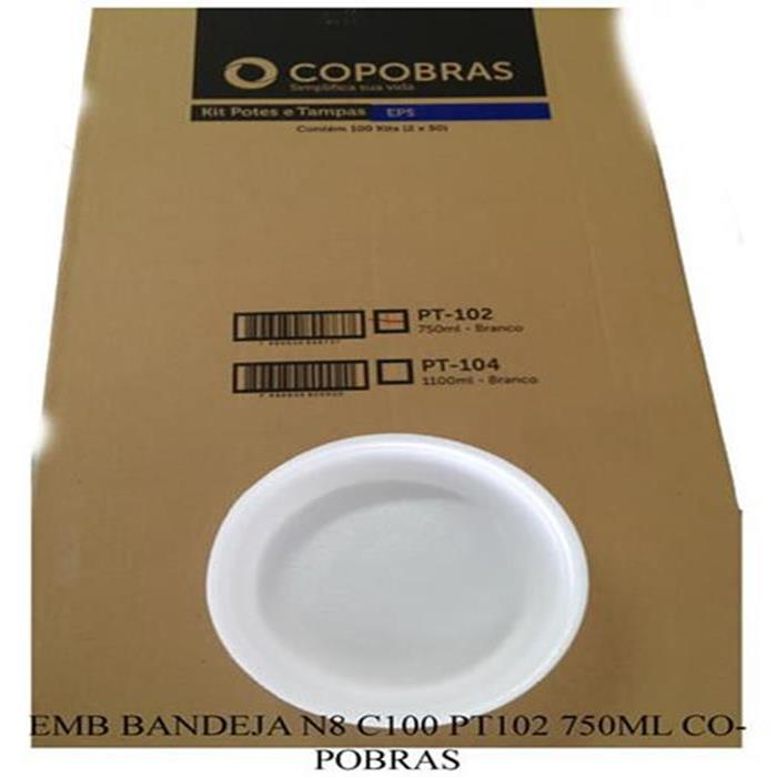 EMB BANDEJA N8 C100 PT102 750ML COPOBRAS