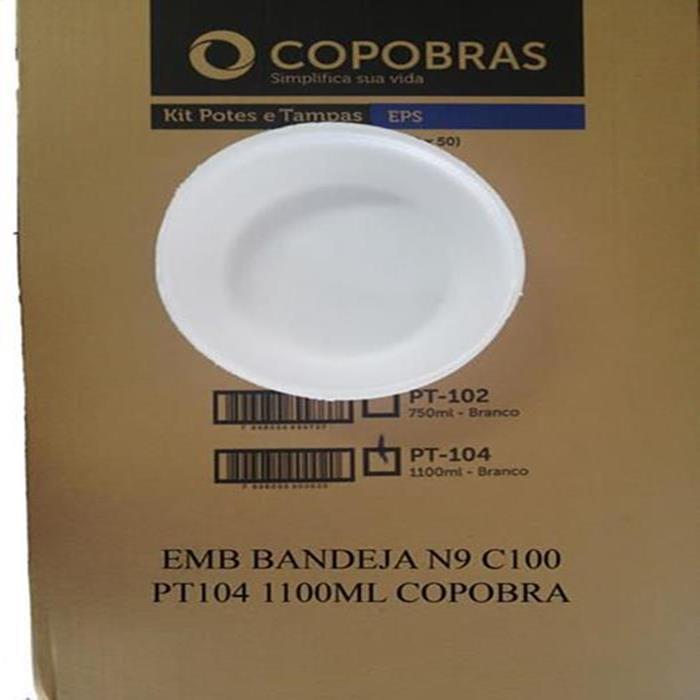 EMB BANDEJA N9 C100 PT104 1100ML COPOBRA