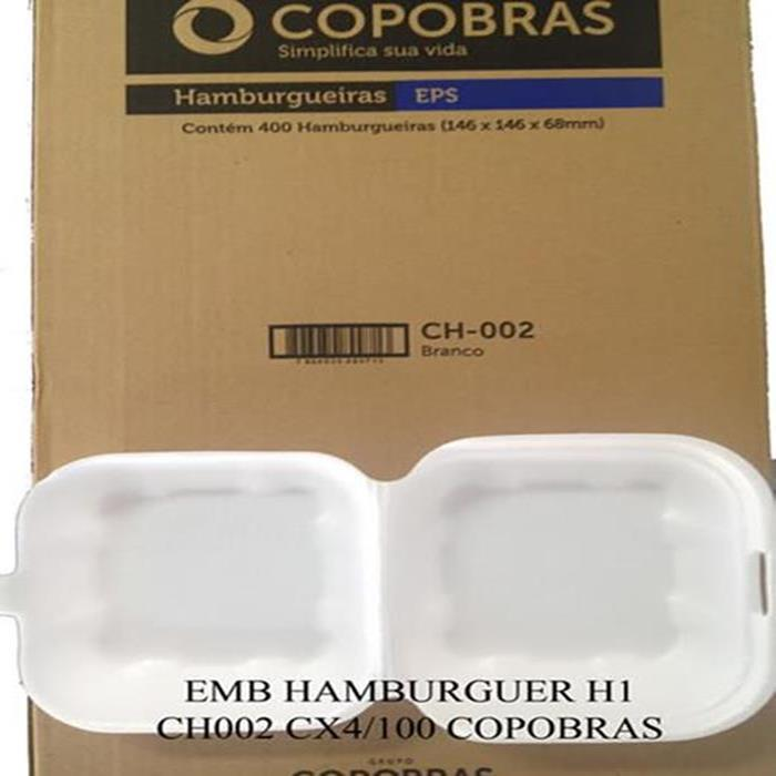 EMB HAMBURGUER H2 CH002 CX400UN COPOBRAS