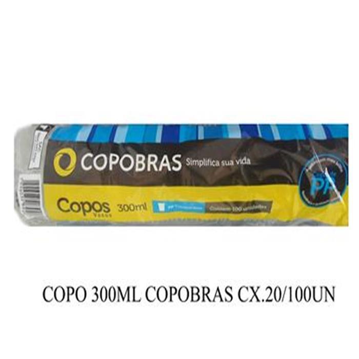 COPO 300ML COPOBRAS CX.20/100UN