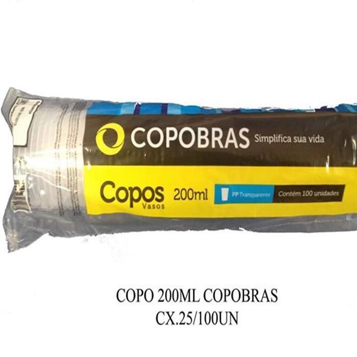 COPO 200ML COPOBRAS CX.25/100UN