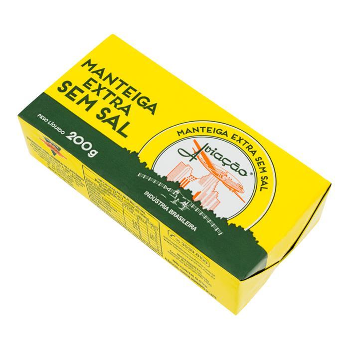 MANTEIGA S/ SAL AVIACAO CX. 24/200GR