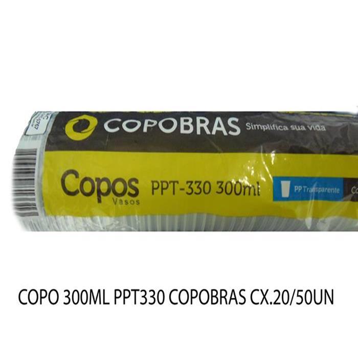 COPO 300ML PPT330 COPOBRAS CX.20/50UN