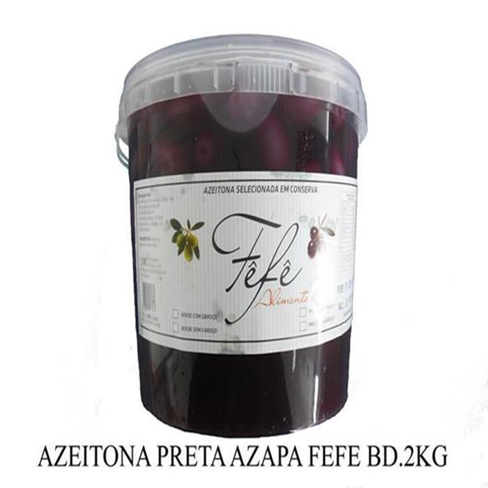 AZEITONA PRETA AZAPA 16/20 FEFE BD.1.8KG