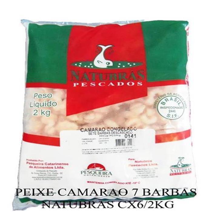 PEIXE CAMARAO 7 BARBAS NATUBRAS CX6/2KG