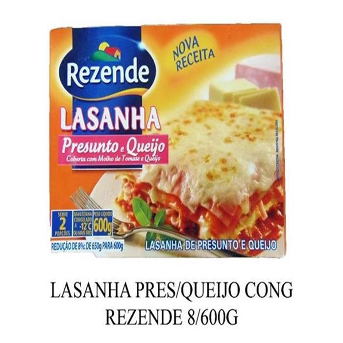 LASANHA PRES/QUEIJO CONG REZENDE 8/600G