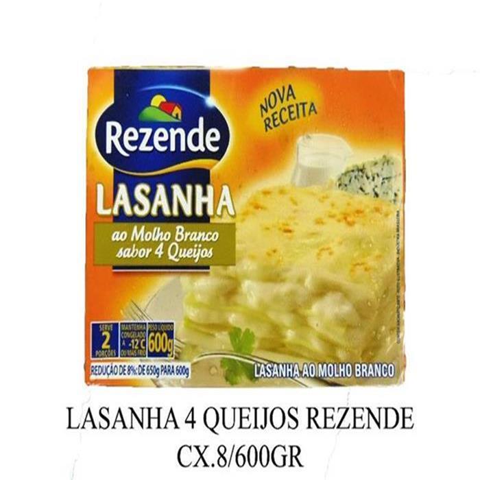 LASANHA 4 QUEIJOS REZENDE CX.8/600GR