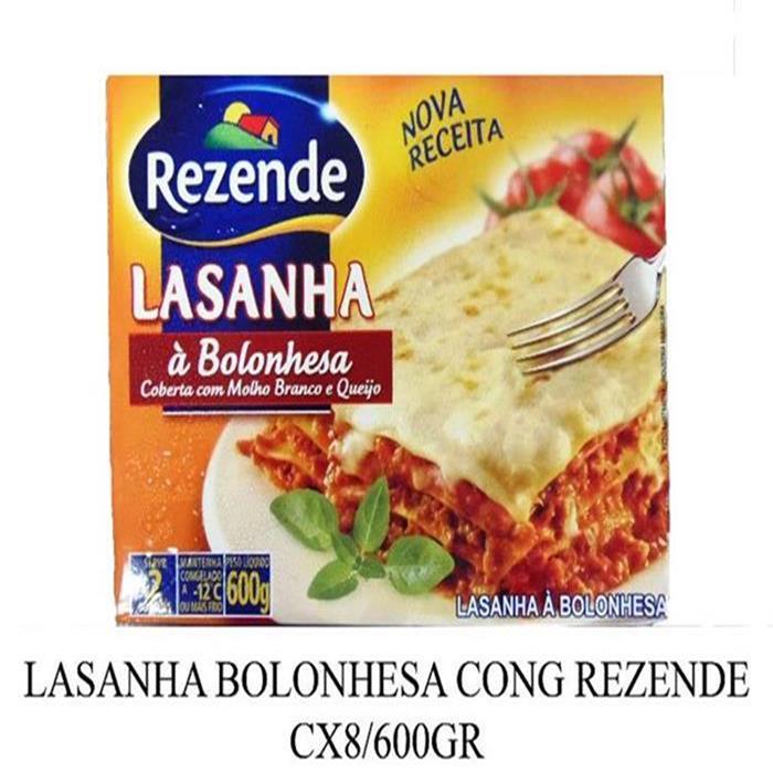 LASANHA BOLONHESA CONG REZENDE CX8/600GR
