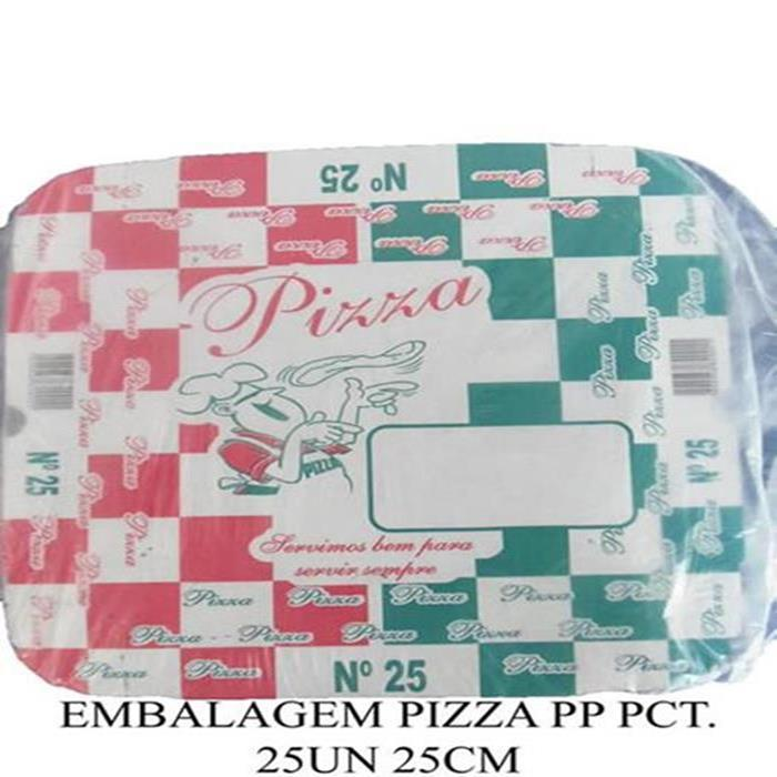 EMBALAGEM PIZZA PP PCT. 25UN/ 25CM