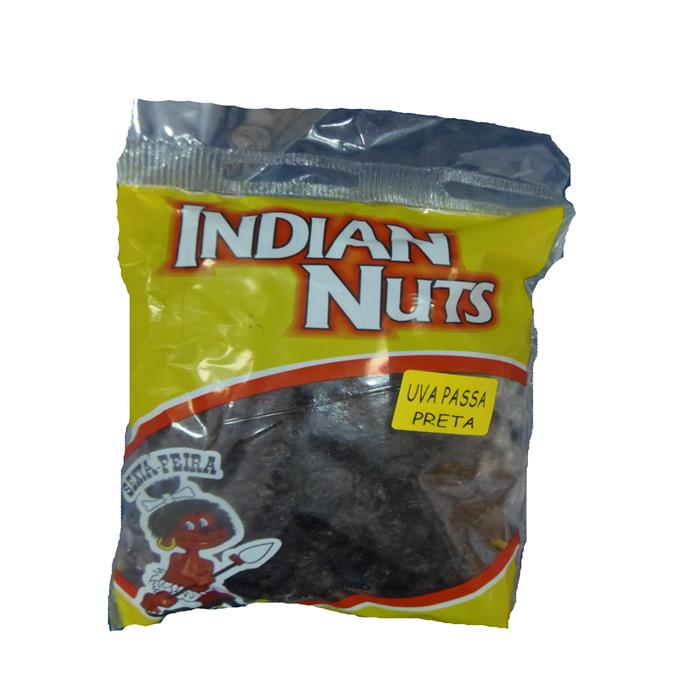 UVA PASSAS PRETA INDIAN NUTS CX.40/500GR