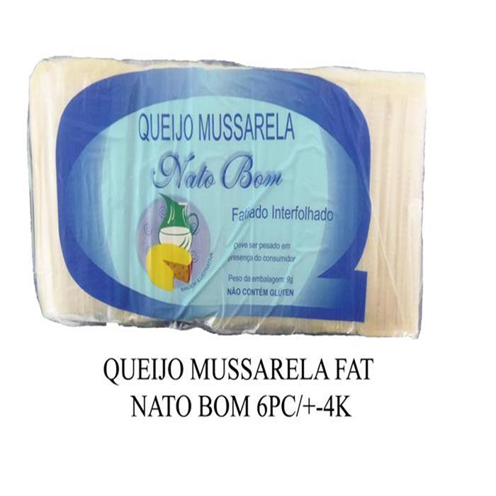 QUEIJO MUSSARELA FAT NATO BOM 6P/+-24K