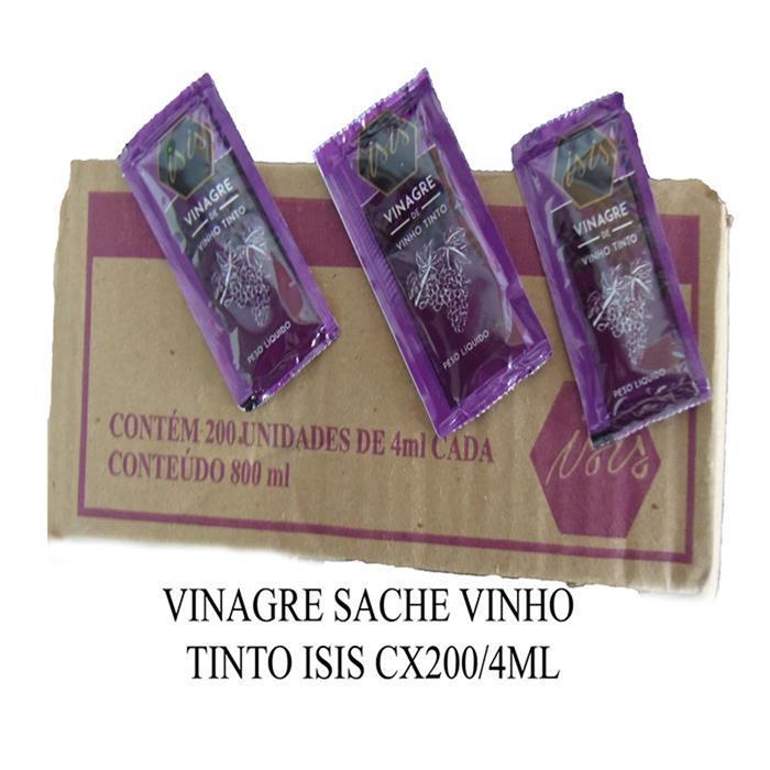 VINAGRE SACHE VINHO TINTO ISIS CX200/4ML