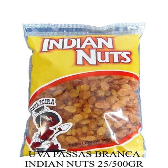 UVA PASSAS BRANCA INDIAN NUTS 40/500GR