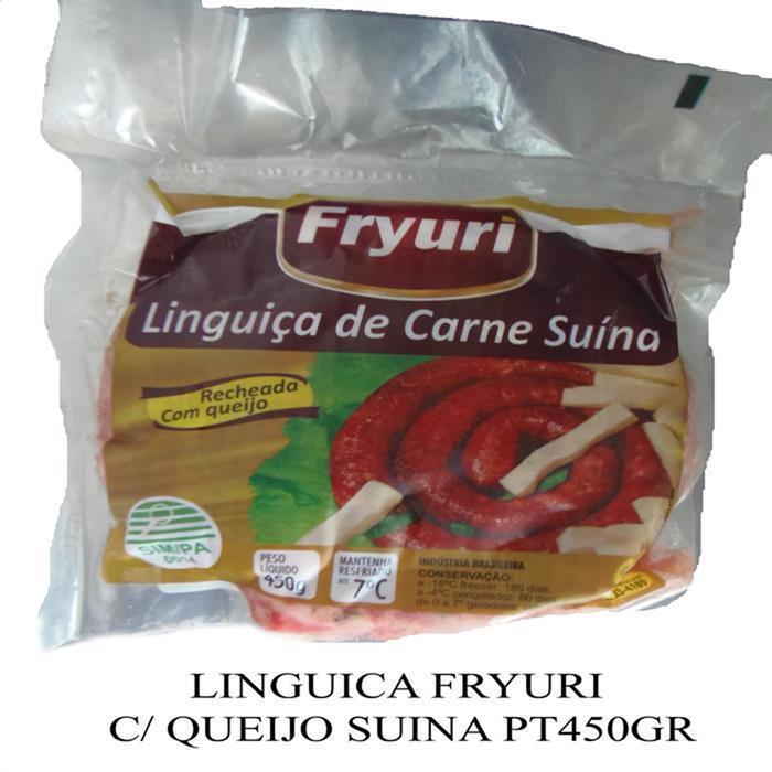 LINGUICA FRYURI C/ QUEIJO SUINA PT450GR