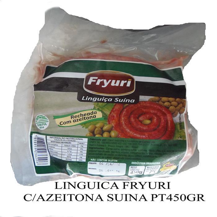 LINGUICA FRYURI C/AZEITONA SUINA PT450GR