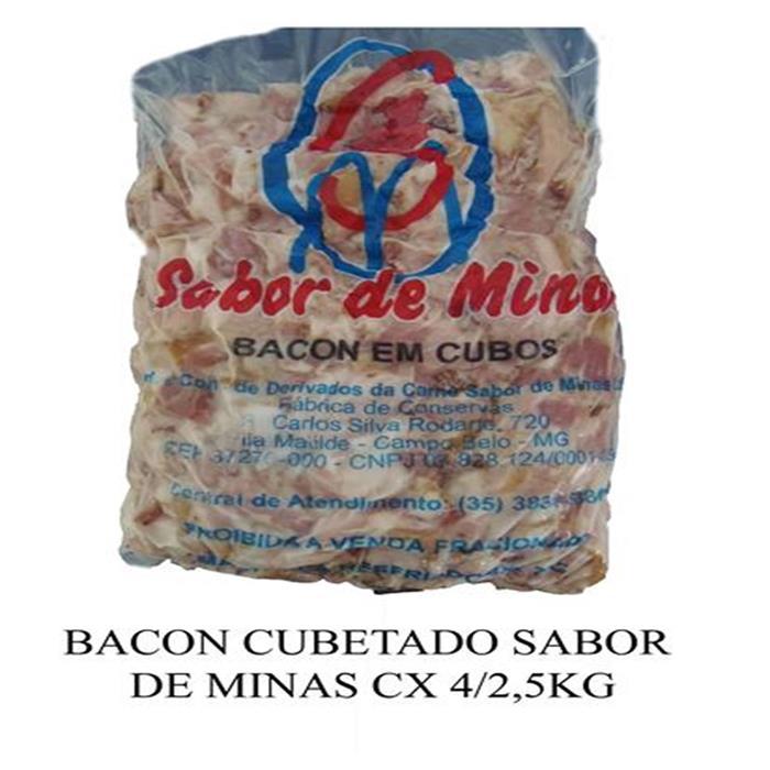 BACON CUBETADO ROSA SABOR DE MINAS4/2,5.