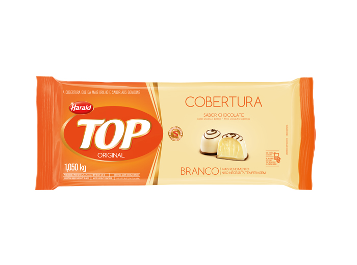 CHOC TOP BRANCO COBERT CX.10/1,05KG