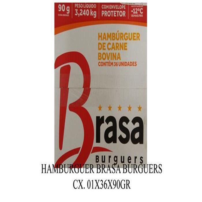 HAMBURGUER BRASA CX. 01X36X90GR