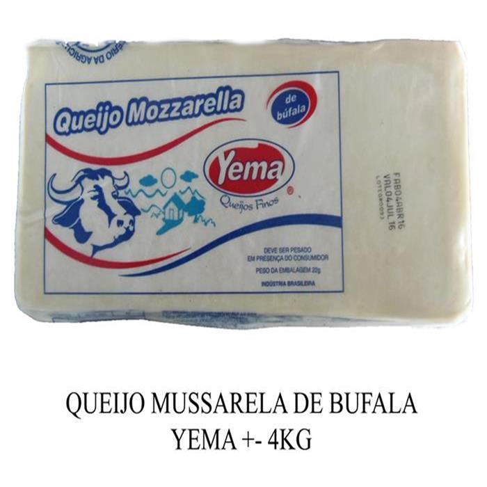QUEIJO MUSSARELA DE BUFALA YEMA +- 4KG