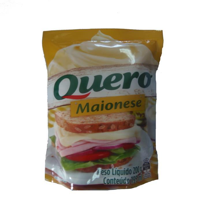 MAIONESE QUERO SACHE CX. 24/200G