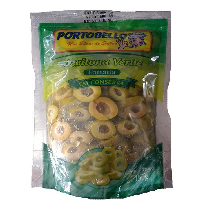 AZEITONA VERDE SACHE FAT PORTOBELLO 150G