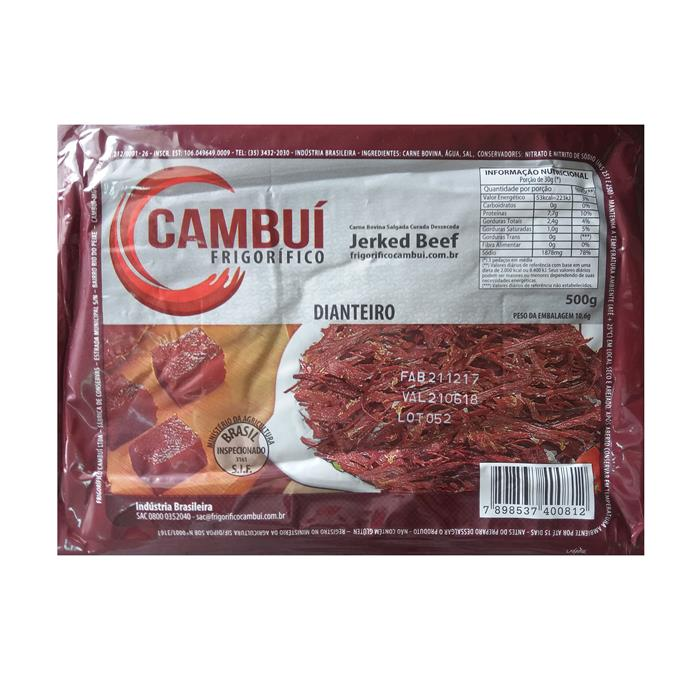 JERKED BEEF CAMBUI CX 60/500G