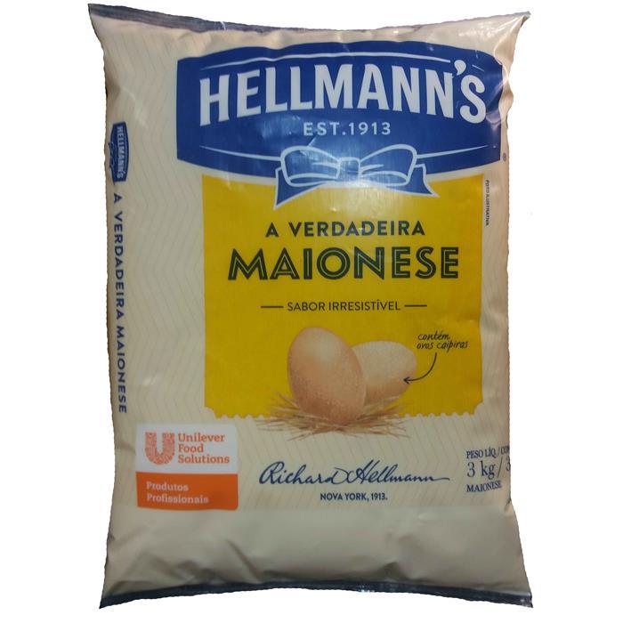 MAIONESE BAG HELLMANN'S CX 6/2,8KG