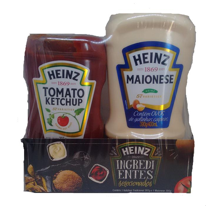 KETCHUP KIT HEINZ 397G+MAION.390G CX/8UN