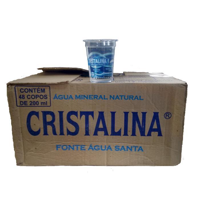 AGUA MINERAL COPO CRISTALINA CX 48/200